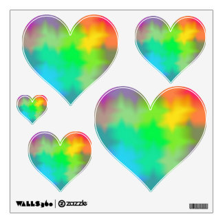 Rainbow Multicolored Watercolor Abstract Tie Dye Wall Sticker