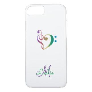 Rainbow Music Clef Heart iPhone 7 Case