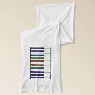 Rainbow Music Keyboard Musicians Scarf