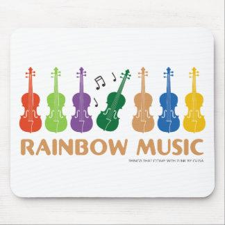 rainbow music mouse pad