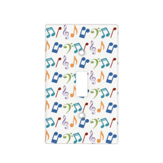 Rainbow Music Notes Light Switch Cover