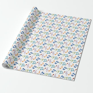 Rainbow Music Notes Wrapping Paper-Customizable Wrapping Paper