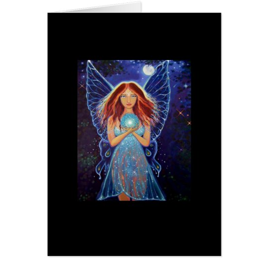 Rainbow Mystic Faery - Fairy Art Greeting Card