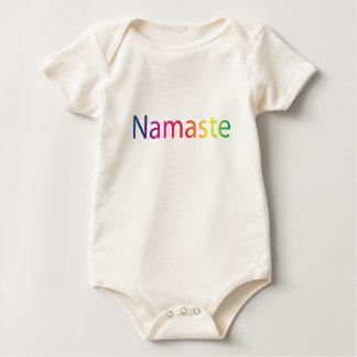 Rainbow Namaste Organic Cotton Onsie Baby Bodysuit