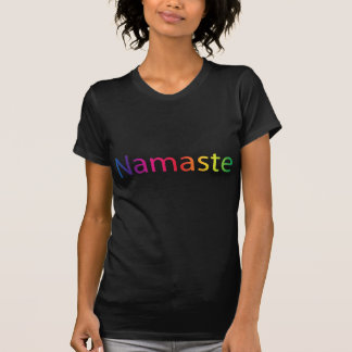 Rainbow Namaste Women's Black Yoga T-Shirt