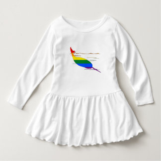 Rainbow Narwhal Dress