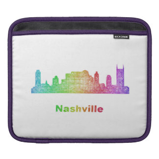 Rainbow Nashville skyline iPad Sleeves