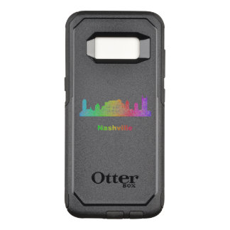 Rainbow Nashville skyline OtterBox Commuter Samsung Galaxy S8 Case