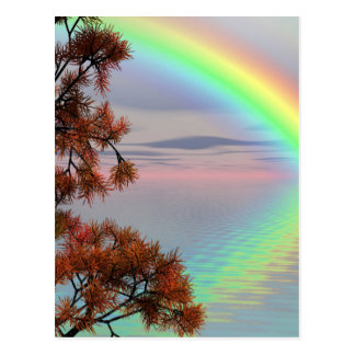 Rainbow Nature Postcard