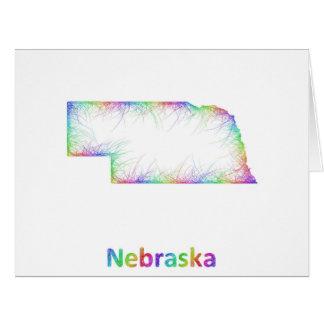 Rainbow Nebraska map Card