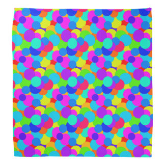 Rainbow Neon Bright Colors Circles Bubbles Teen Bandana
