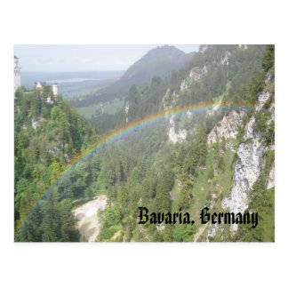 Rainbow, Neuschwanstein, Bavaria, Germany Postcard