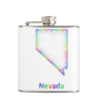 Rainbow Nevada map Flask