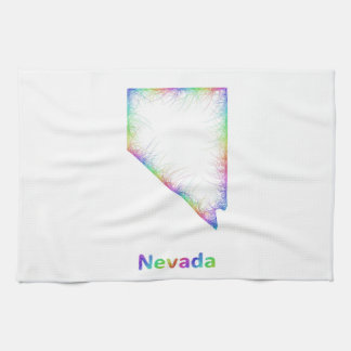 Rainbow Nevada map Kitchen Towels