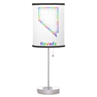 Rainbow Nevada map Table Lamps