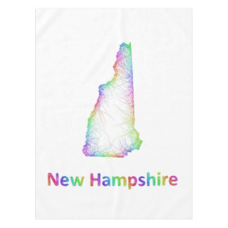 Rainbow New Hampshire map Tablecloth