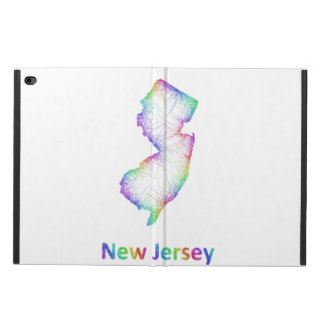 Rainbow New Jersey map