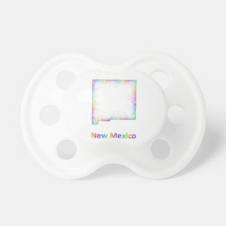 Rainbow New Mexico map Baby Pacifiers
