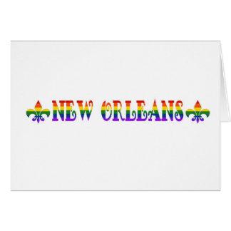 Rainbow New Orleans Card