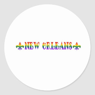 Rainbow New Orleans Classic Round Sticker