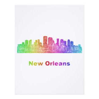 Rainbow New Orleans skyline Custom Letterhead