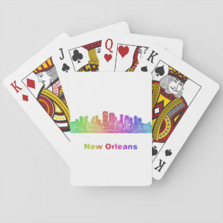 Rainbow New Orleans skyline Playing Cards