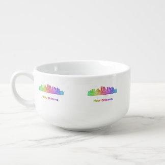 Rainbow New Orleans skyline Soup Mug