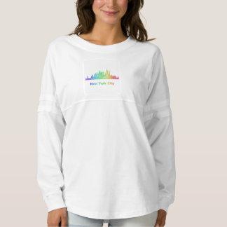 Rainbow New York City skyline Spirit Jersey