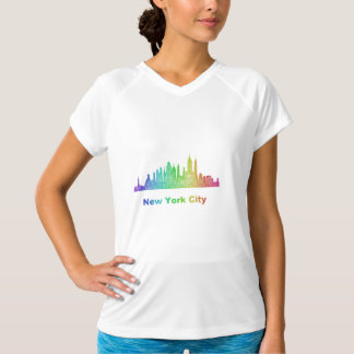 Rainbow New York City skyline T-Shirt