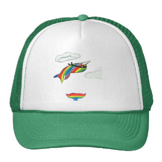 Rainbow Ninja Narwhal Trucker Hat