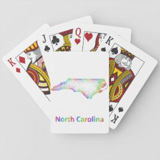 Rainbow North Carolina map Playing Cards