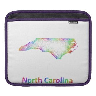 Rainbow North Carolina map Sleeve For iPads