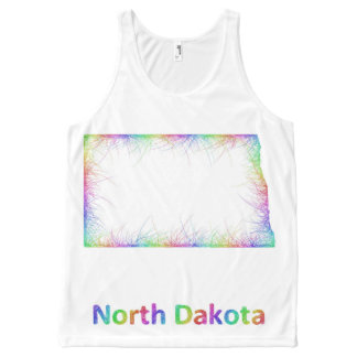 Rainbow North Dakota map
