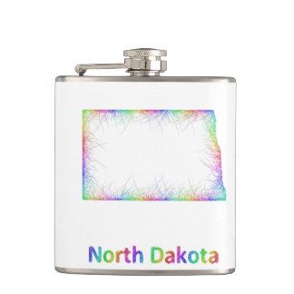 Rainbow North Dakota map Flask