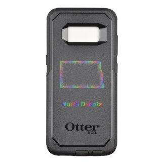 Rainbow North Dakota map OtterBox Commuter Samsung Galaxy S8 Case