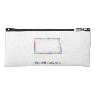 Rainbow North Dakota map Pencil Case