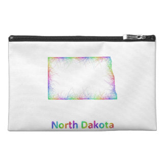 Rainbow North Dakota map Travel Accessory Bag