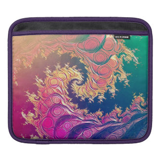 Rainbow Octopus Tentacles in a Fractal Spiral iPad Sleeve