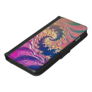 Rainbow Octopus Tentacles in a Fractal Spiral iPhone 6/6s Plus Wallet Case