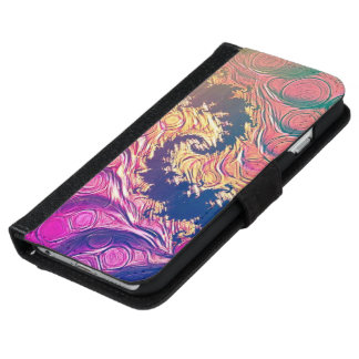 Rainbow Octopus Tentacles in a Fractal Spiral iPhone 6 Wallet Case