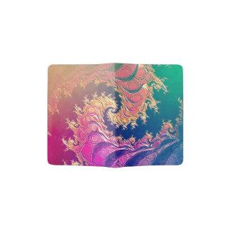 Rainbow Octopus Tentacles in a Fractal Spiral Passport Holder
