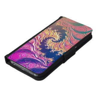 Rainbow Octopus Tentacles in a Fractal Spiral Samsung Galaxy S6 Wallet Case