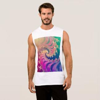 Rainbow Octopus Tentacles in a Fractal Spiral Sleeveless Shirt