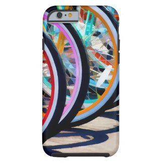 Rainbow of bicycles tough iPhone 6 case