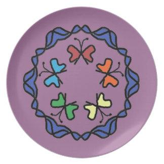 Rainbow of Butterflies Plate