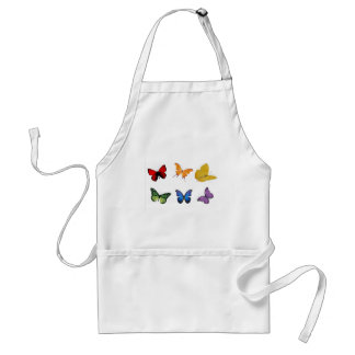 Rainbow of Butterflies Standard Apron