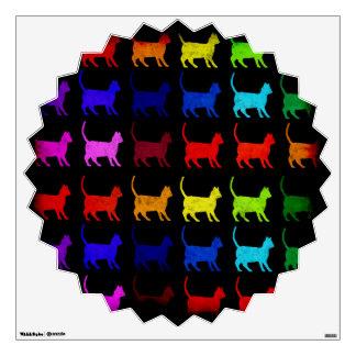 Rainbow Of Cats Wall Sticker