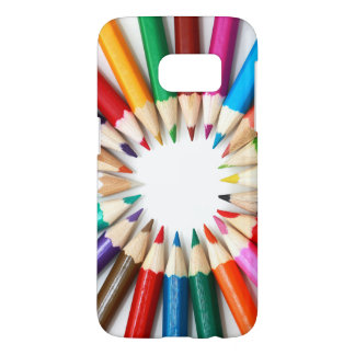 Rainbow of Colored Pencil Points Samsung Galaxy S7 Case