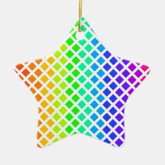 Rainbow of Diamonds ornament, customize Ceramic Ornament