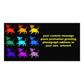 Rainbow Of Dogs Photo Card Template
